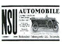 NSU Automobile Werbung