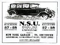 NSU 1929 Werbung