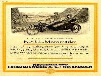 Werbung NSU Motorräder