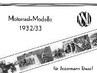 NSU Modelle 1932/33