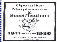 Operation Maintenance & Specifications