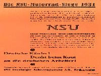NSU Motorrad Siege 1931
