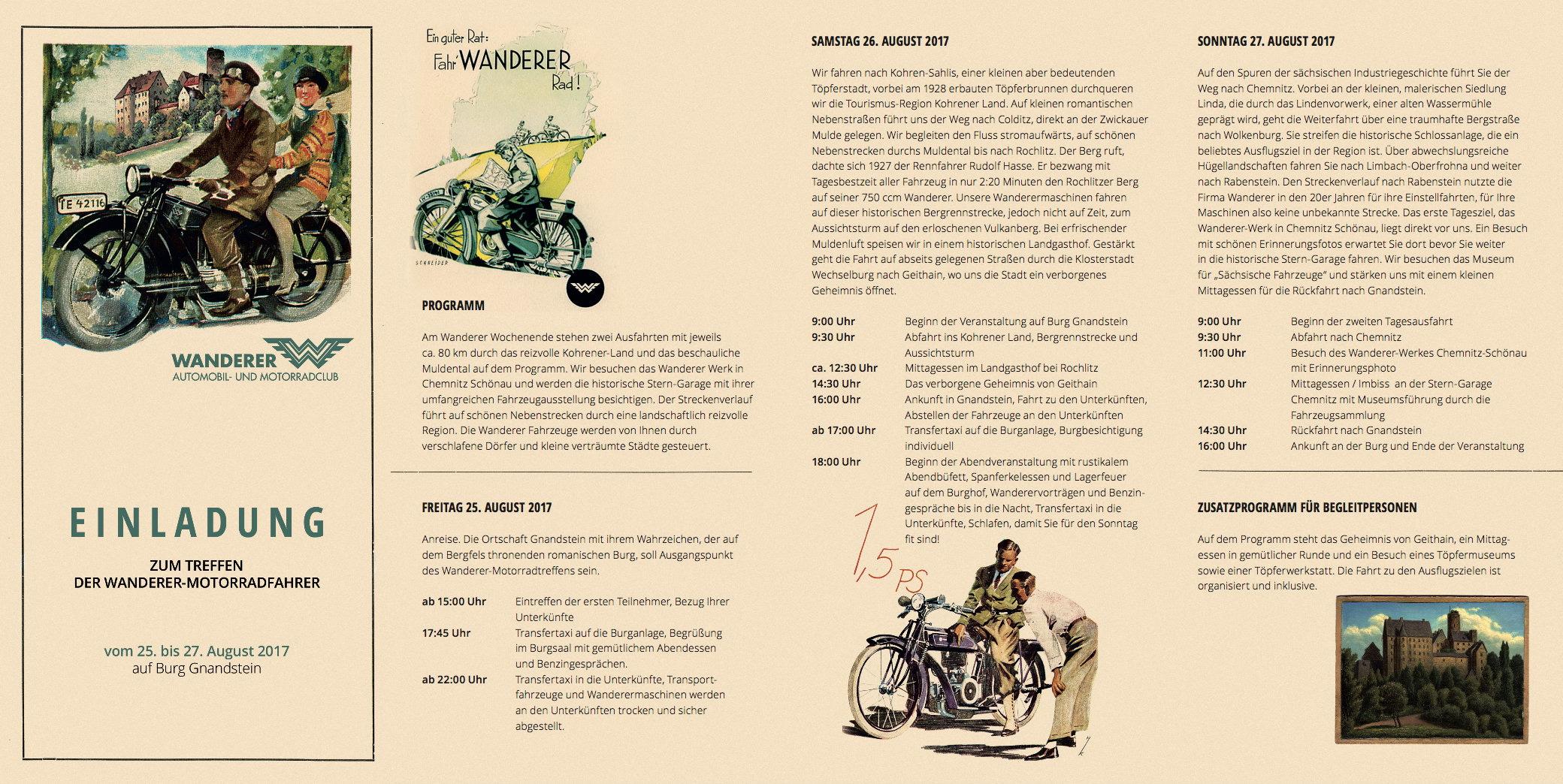 Treffen der Wanderer-Motorradfahrer