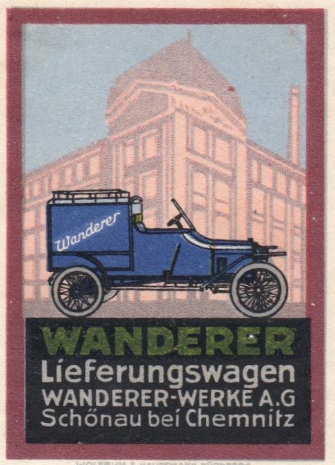 Wanderer Lieferwagen Werbung