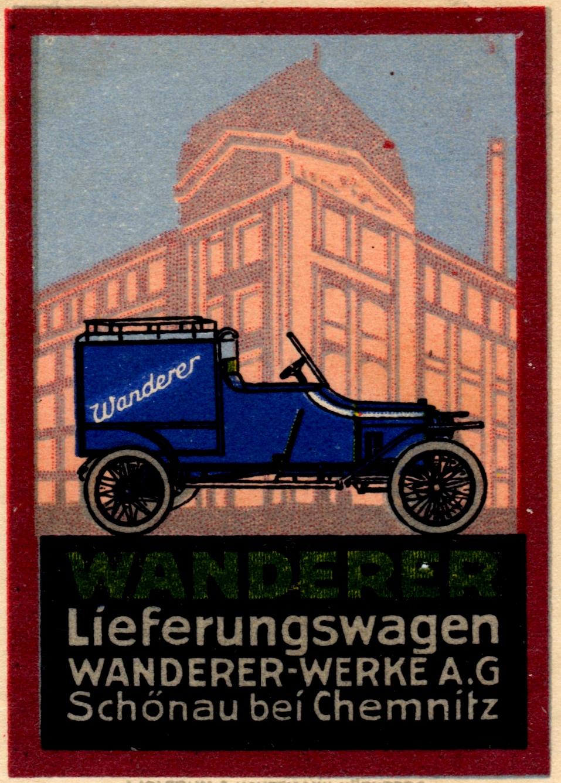 Werbung zum Lieferungswagen